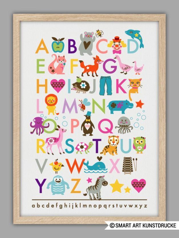 """Originaldruck - """"ABC"""" Kunstdruck Geschenk Idee zur Ge... - ein Designerstück von Smart-Art-Kunstdrucke bei DaWanda"""