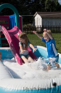 Giant Bubble Bath- Super Summer FUN!