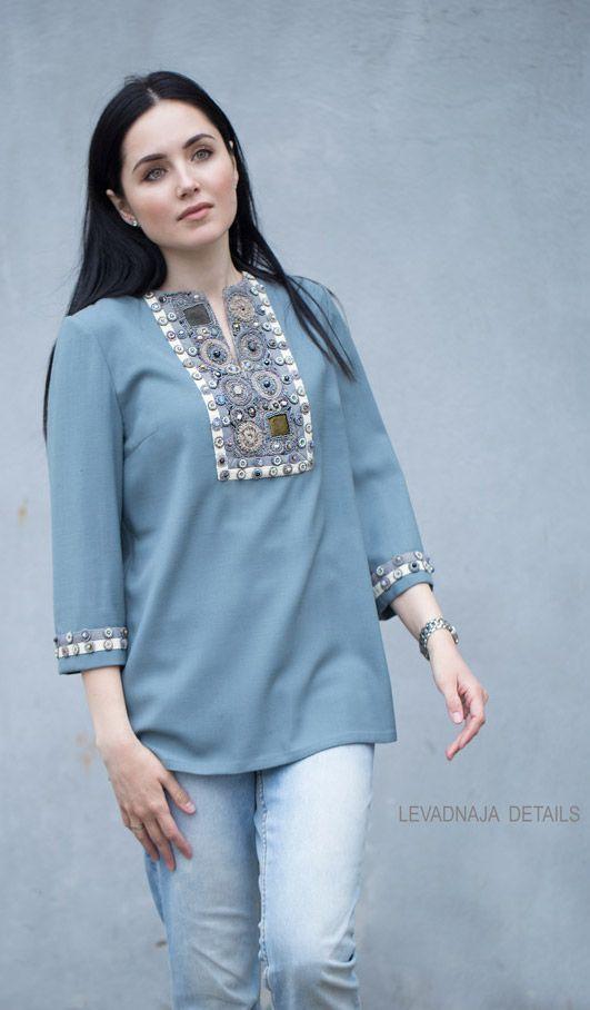 Блуза LEVADNAJA DETAILS, классическая модель. www.levadnajadetails.com