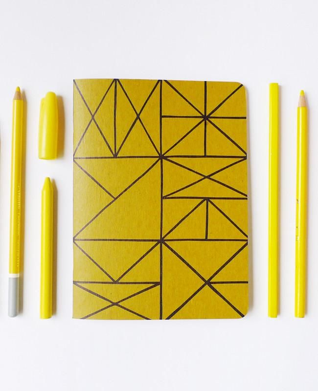 Gold Grid Notebook - Mega Size -- great gift for artists or creative minds