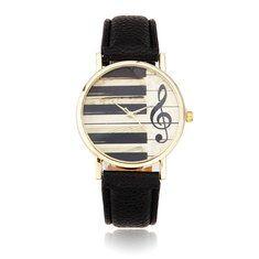 #Banggood Вскользь клавиатура пианино музыкальная нота аналоговый кварцевые наручные часы (1016174) #SuperDeals