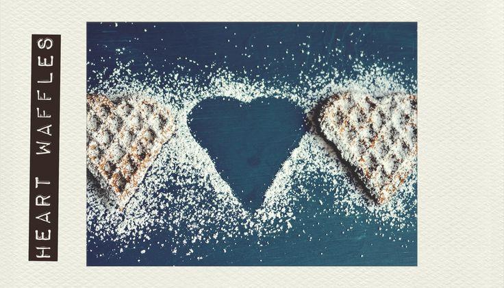 #Handmade #Heart #Waffles. #PolaroidFx #Polaroid #Collage #Food #Yummy #Sugar #Sweet #Recipe #Homemade #Breakfast