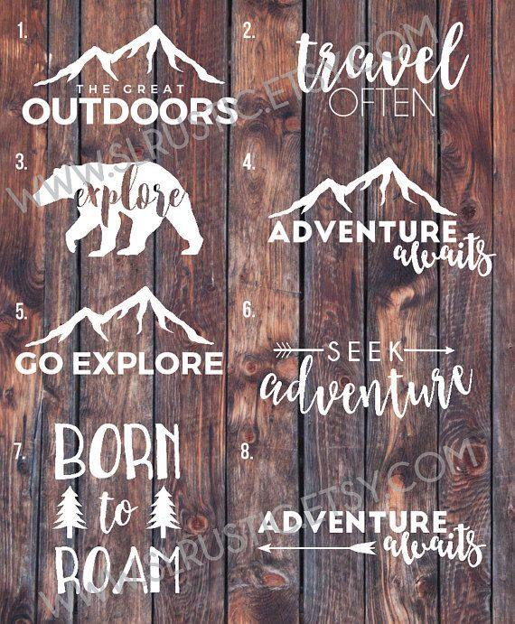 adventure decal travel decal explore decal outdoors by SLrustic