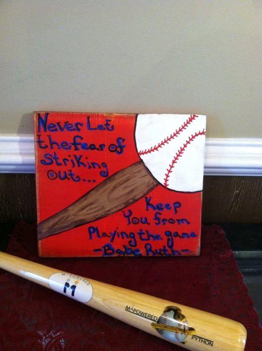 Baseball Sign D Cor Baseball Signs Wood Baseball Sign Baseball Babe Ruth Play Ball Team Sport Wood Decor Home Decor Baseball Items Usd By