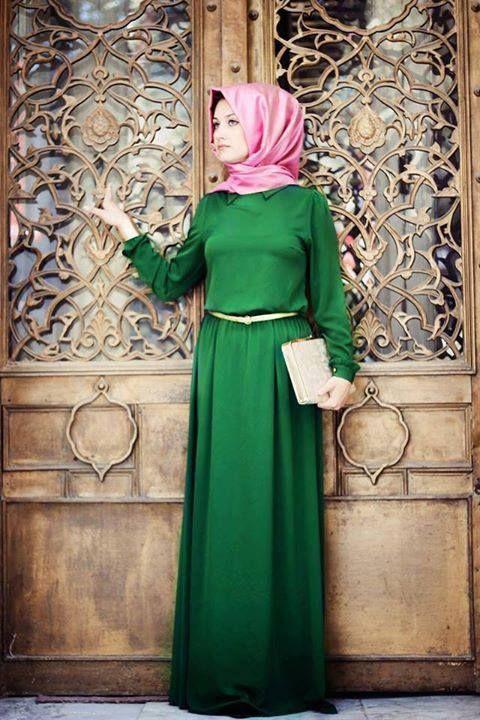 #green #maxi #dress #hijab #hijabi #fashion