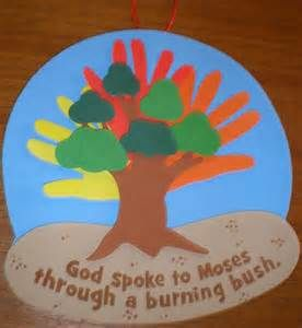 Moses And The Burning Bush Craft Ideas