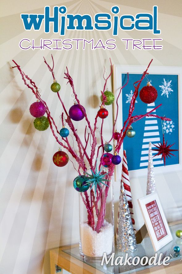 DIY Whimsical Christmas Tree Decor - Makoodle.com