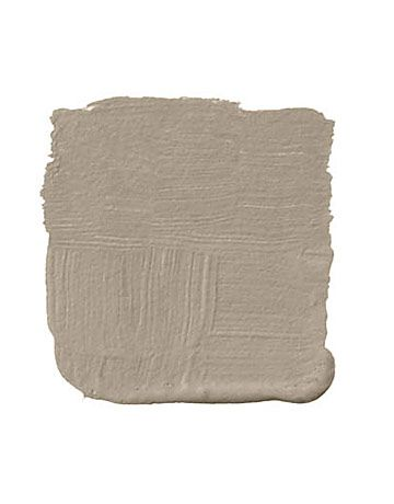 """Farrow & Ball London Stone: """"This is a warm, taupey brown. Not too dark and not too light. It's the color of raw unbleached Irish linen, of sand and shadow, of French limestone. Actually, it's like a Swedish brown, if there were such a thing. It has that beautifully grayed tone. I'd bring in a grayed blue as an accent."""" -Kerry Joyce"""