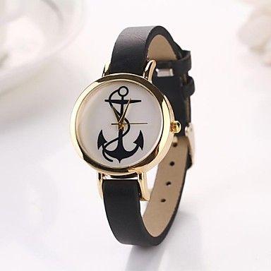 EUR € 5.75 - mujeres relojes de pulsera de cuarzo de cuero ancla Leath (colores surtidos), ¡Envío Gratis para Todos los Gadgets!