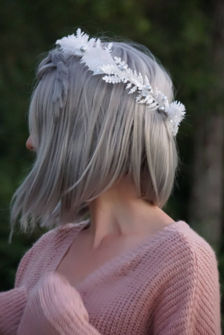 155 best flower crowns images on pinterest flower crown wedding white flower crown silver floral crown white sparkle flower crown izmirmasajfo Image collections