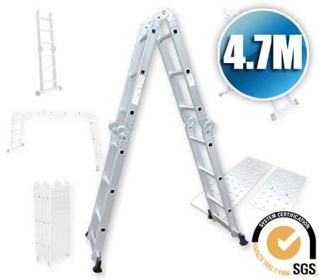 Multi Purpose 4.7M Extension Adjustable Multiple Configuration Folding Step Ladder $99.95