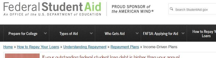 Repay Student Debt https://studentloans.gov/myDirectLoan/mobile/repayment/repaymentEstimator.action