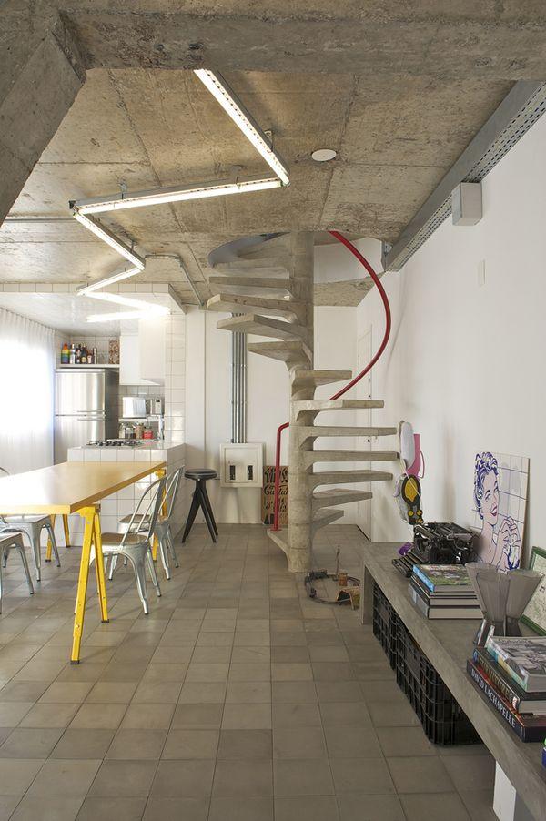 Super chic apartment interiors in Brazil