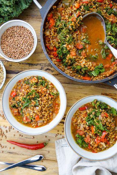Linsen-Chili mit Grünkern und Grünkohl © ElleRepublic