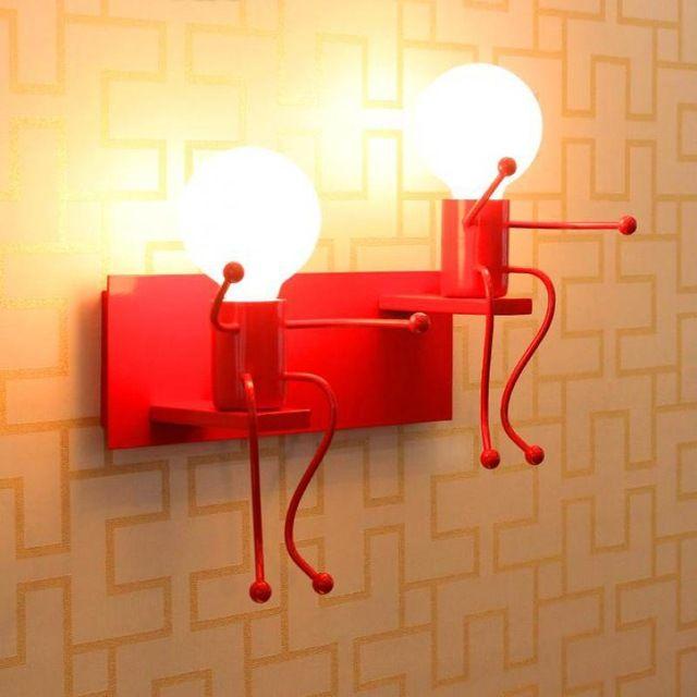 Lilliput Modern Led Luminária Lâmpada de Parede boneca para Crianças sala Quarto estudo Lâmpada de leitura Luzes de Parede Do Banheiro arandela Café Luz