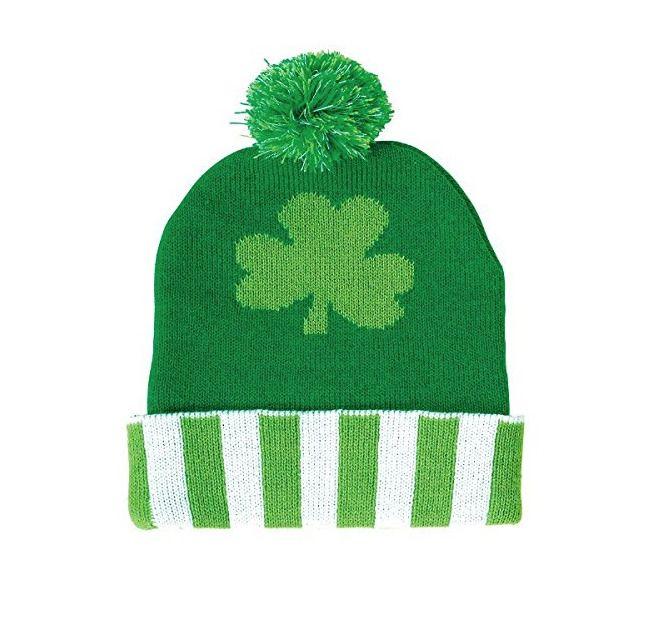 8fb37aa2ea1 St. Patrick s Day Shamrock Beanie Pom Pom Clover Lucky Hat Knit Cap  OGR   Beanie  StPatricksDay