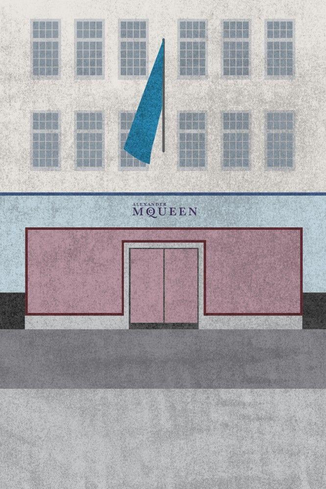 Fashion Houses Illustration by Gabriela Alford