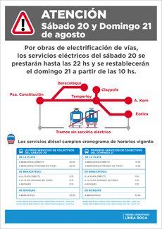 CRÓNICA FERROVIARIA: Línea Roca: Nuevo cronograma de horarios trenes el...