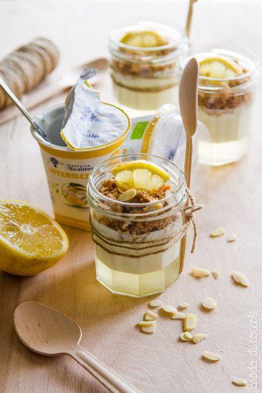 Parfait allo yogurt al limone - Brodo di coccole #yogurt #limone #brododicoccole