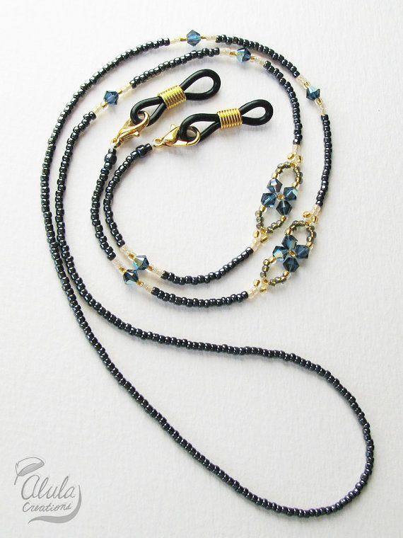 Swarovski Eyeglasses Chain, Eyeglass Holder Necklace, Reading Glasses Chain, Eyeglass Chain, Glass Cord, Glass Lanyard / 29 inch /  EGH-2001