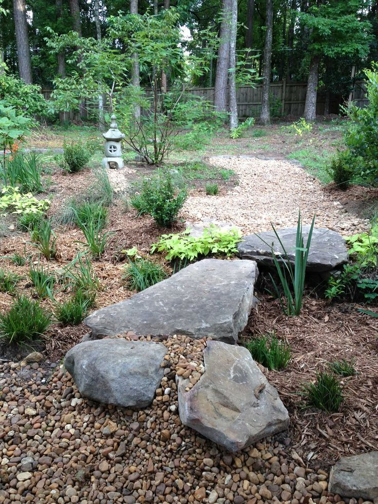 Japanese Garden Stone Bridge 14 best gardening - rain garden/japanese dry rock bed images on