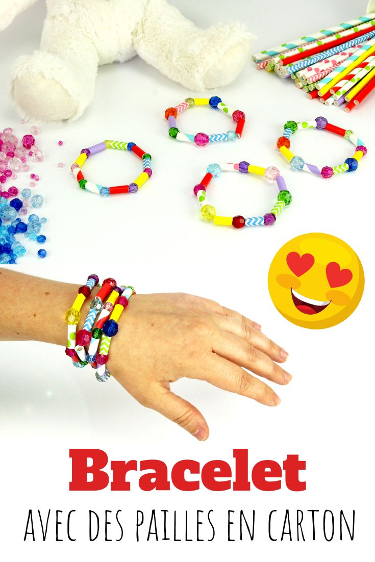 Fabriquer un bracelet avec des pailles en carton