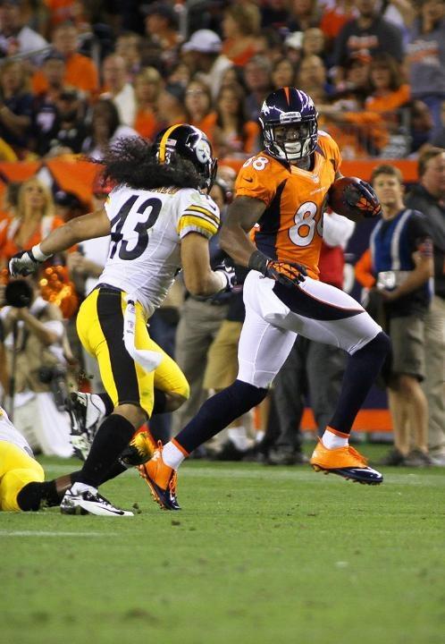 Demaryius Thomas vs Troy Polamalu - Broncos vs Steelers playoffs 2011.
