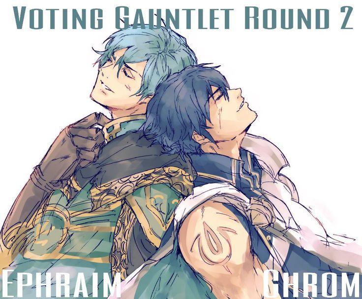 Voting Gauntlet Round 2 Ephraim vs Chrom Fire Emblem Heroes: https://twitter.com/12hotagai/status/840417993498619905