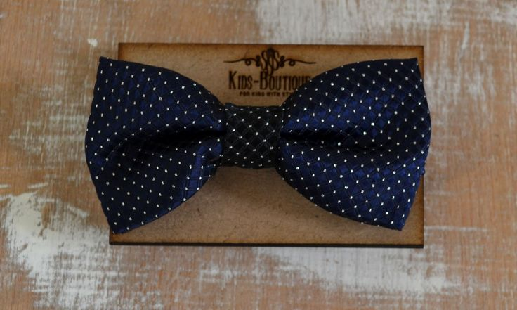 Bow Tie Blue With White Dots