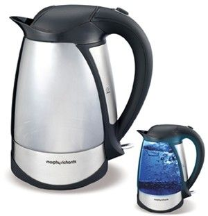 Illuma Jug  Have you seen the light? Add illumanation to your kitchen with the Illuma Kettle. This unique kettle has two stunning looks. When the power is off it is a glass kettle but switch it on and watch the transformation. The glass changes to a fluorescent blue illumination.