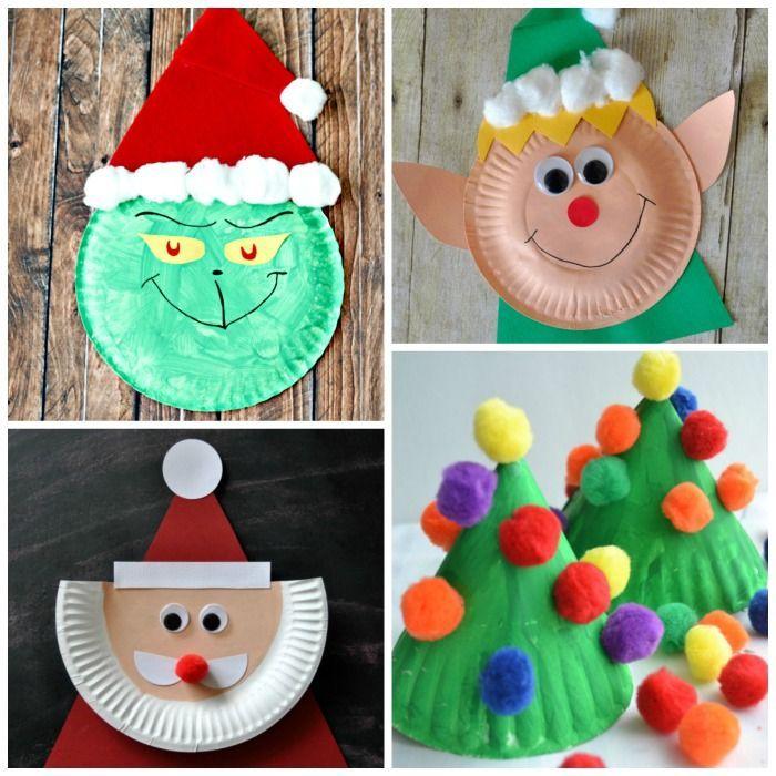 25 Χριστουγεννιάτικες κατασκευές για παιδιά με χάρτινα πιάτα