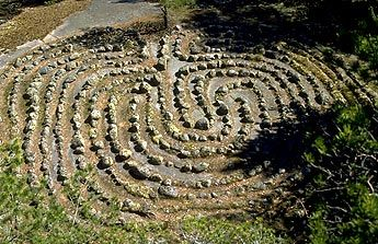 There is a stone labyrinth in Mustaviiri Island. The oldest labyrinths were made in the Stone Age, and the youngest a bit over a hundred years ago. It is believed that they were places for meeting and playing, but they probably have something to do with fishing and hunting magic as well. Most scientists nowadays think, that the labyrinths are religious constructions.