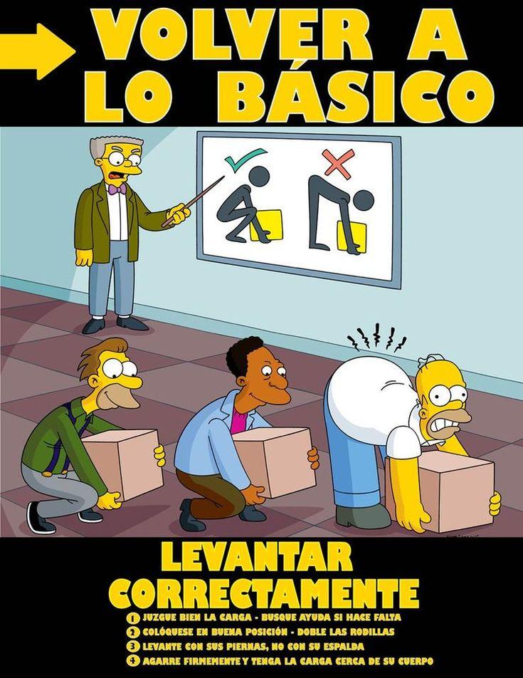 Get Back To Basics Lift Properly (List) Spanish Simpsons