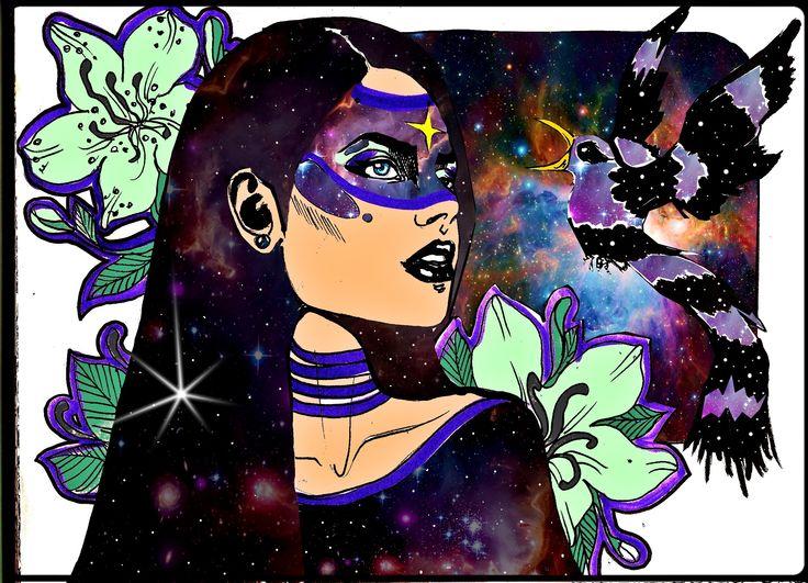 https://www.youtube.com/watch?v=WEQnzs8wl6E Fade to black original ink on paper added photoshop and voila emoticon kiki - cu Bianca Darkwoods
