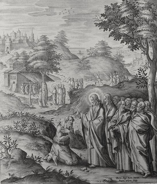 Luke in the Phillip Medhurst Collection 429 The Samaritan leper returns to give thanks Luke 17:12-19 Passeri on Flickr. A print from the Phillip Medhurst Collection of Bible illustrations, published by Revd. Philip De Vere at St. George's Court,...