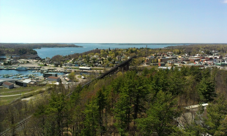 Parry Sound, seen from the fire tower