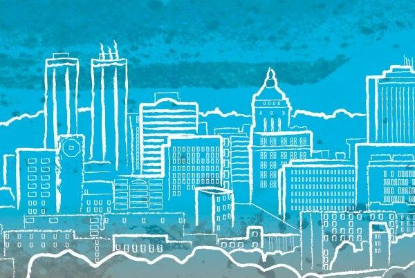 City Brew Logo Skyline