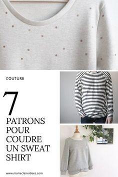 7 patrons pour coudre un sweat shirt / patron couture / diy couture