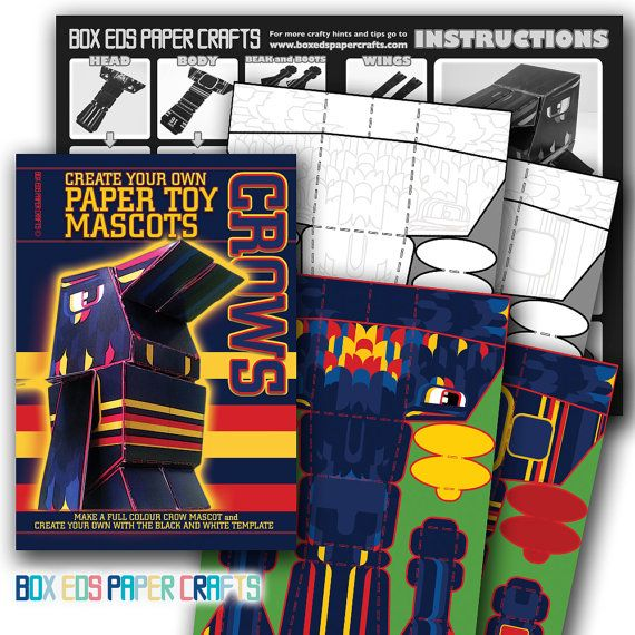DIY craft kit. Make your own Adelaide Crows by BoxEdsPaperCrafts