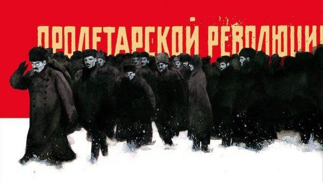 Un Lenin gigante para la revolución bolchevique de John Reed