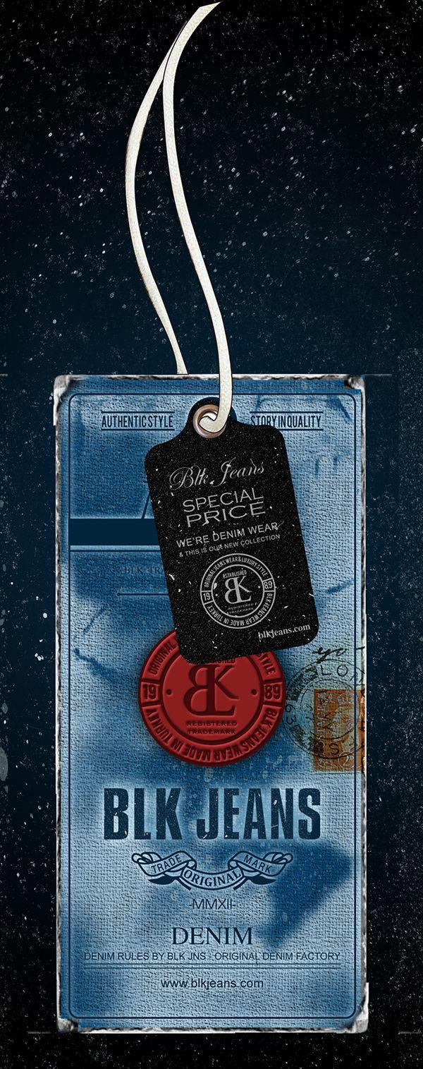 Poster design jeans - Blk Hangtag Design
