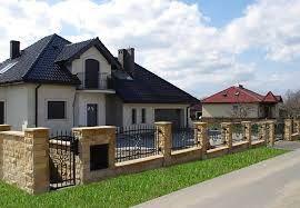 Afbeeldingsresultaat voor ogrodzenie wokół domu kamień i piaskowiec