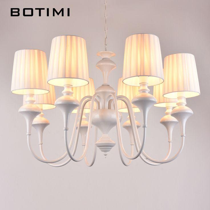 Botimi LED люстра современный подвесной светильник для гостиной столовой люстры pendente Белый Черный E14 абажуры светильники купить на AliExpress