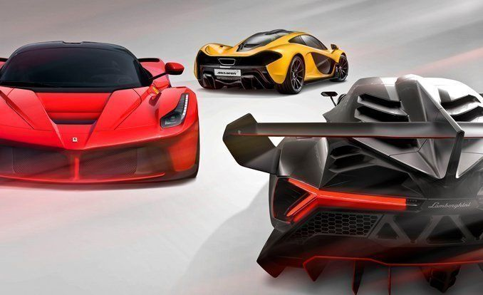 Hyping Hypercars: 2014 Ferrari LaFerrari vs. 2014 McLaren P1, Lamborghini Veneno – Comparison Test – Car and Driver