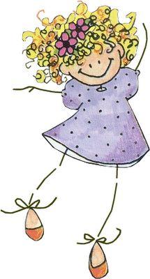 Lindas meninas palito | Imagens para Decoupage