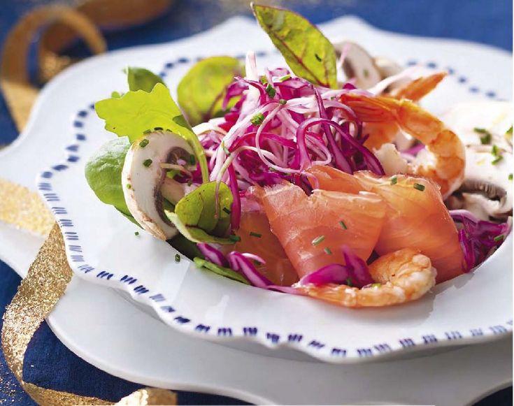 Рецепт салата со слабосоленой форелью