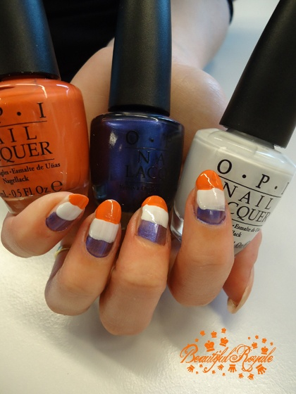 Queen's day nails tutorial met vlaggetjes. Zelf maken? http://www.girlz.nl/mode-beauty/whats-new/2954/qday-nails-part-3