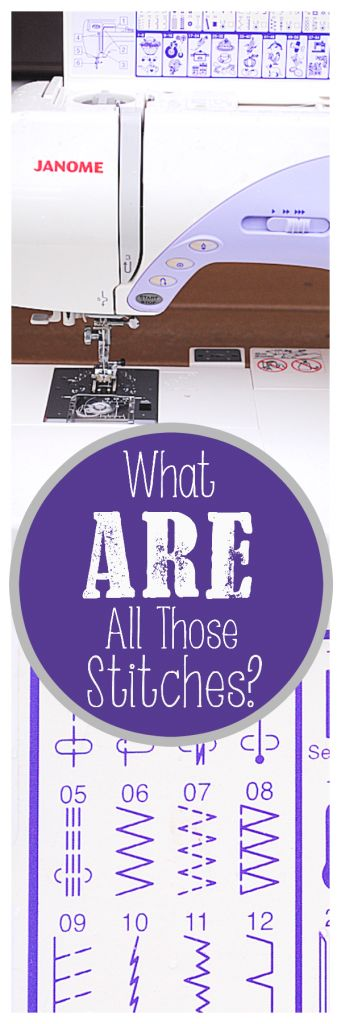 Have you ever taken a look at your sewing machine and the stitches available to be used and...