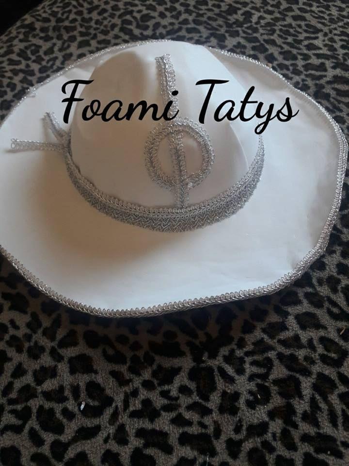 86958b41003e5 sombrero charro blanco de foami