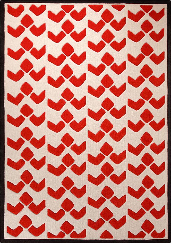 Esprit Kurzflor Teppich Bauhaus Rot Orange Kurzflor Teppiche Grundfarben Teppich